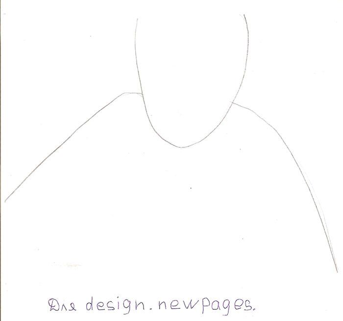 Рисуем Гарри Поттера - шаг 1