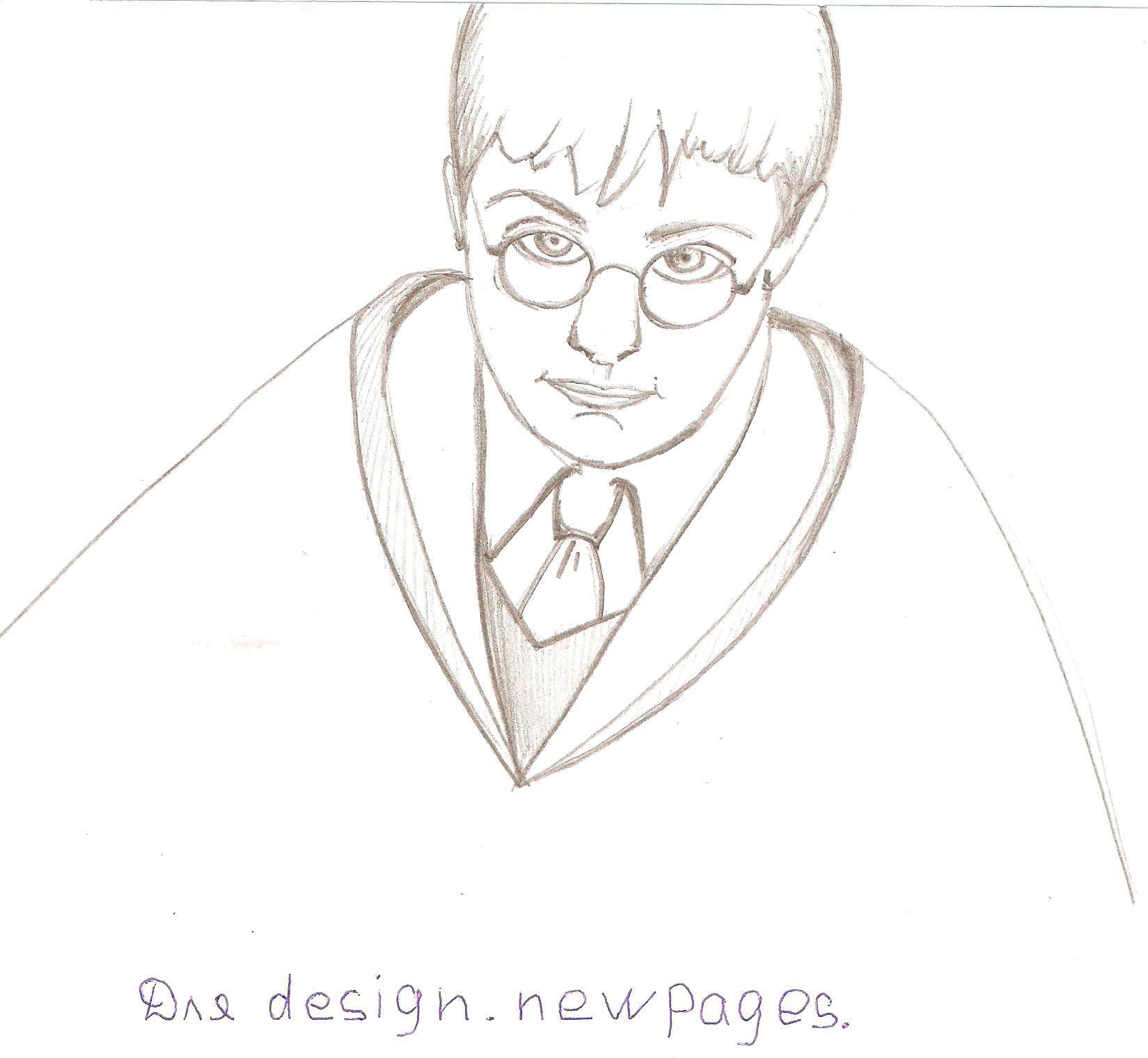 Рисуем Гарри Поттера - шаг 5