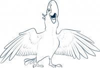 Голубчика из мультфильма Рио карандашом