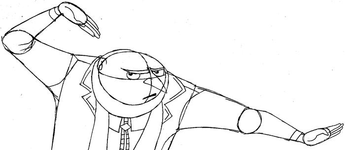 Рисуем Грю Фелониуса Мексона из Гадкий я