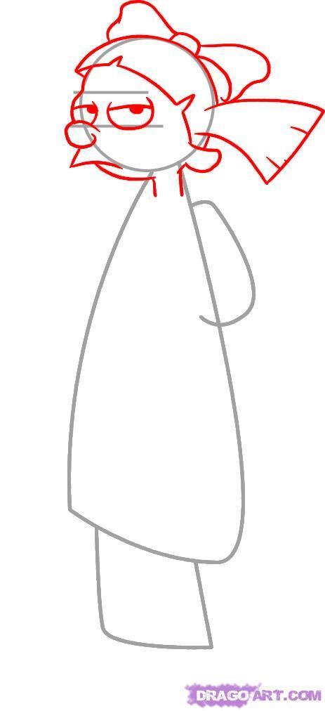 Рисуем Хельгу   для начинающих - шаг 2