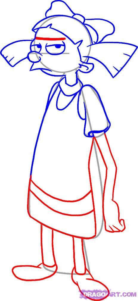 Рисуем Хельгу   для начинающих - шаг 4