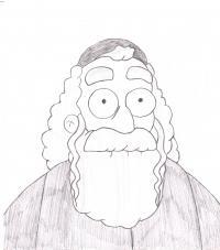 Хймана Крастофски из Симпсонов карандашом