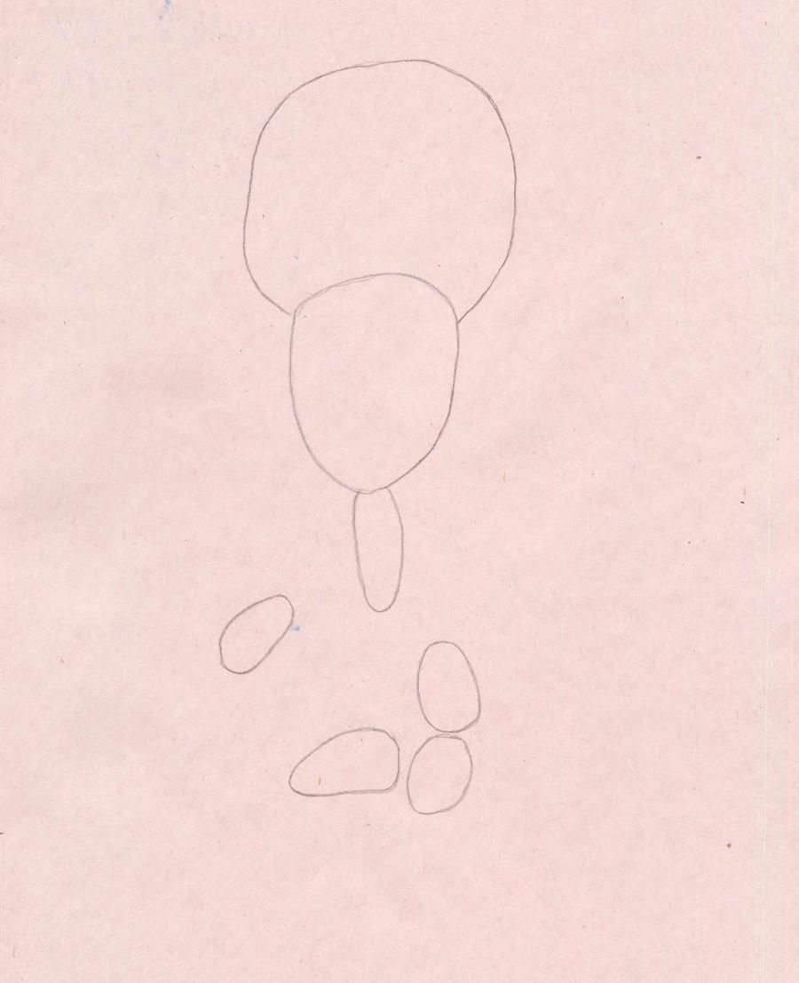 Рисуем Игрека из мультфильма Фиксики - шаг 1