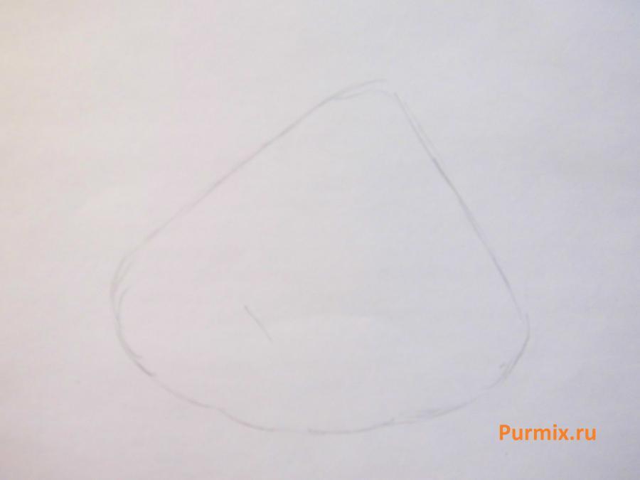Рисуем мистера Крабса из Спанч Боба - шаг 1