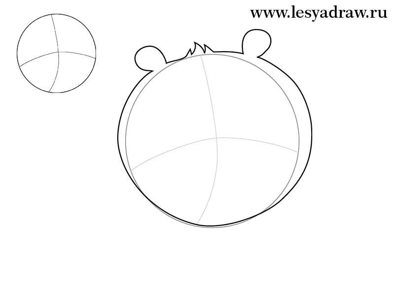 Рисуем Кунг-фу Панду