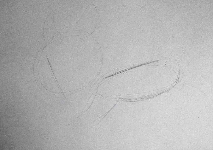 Рисуем Кусачку из мультика Фиксики - шаг 1