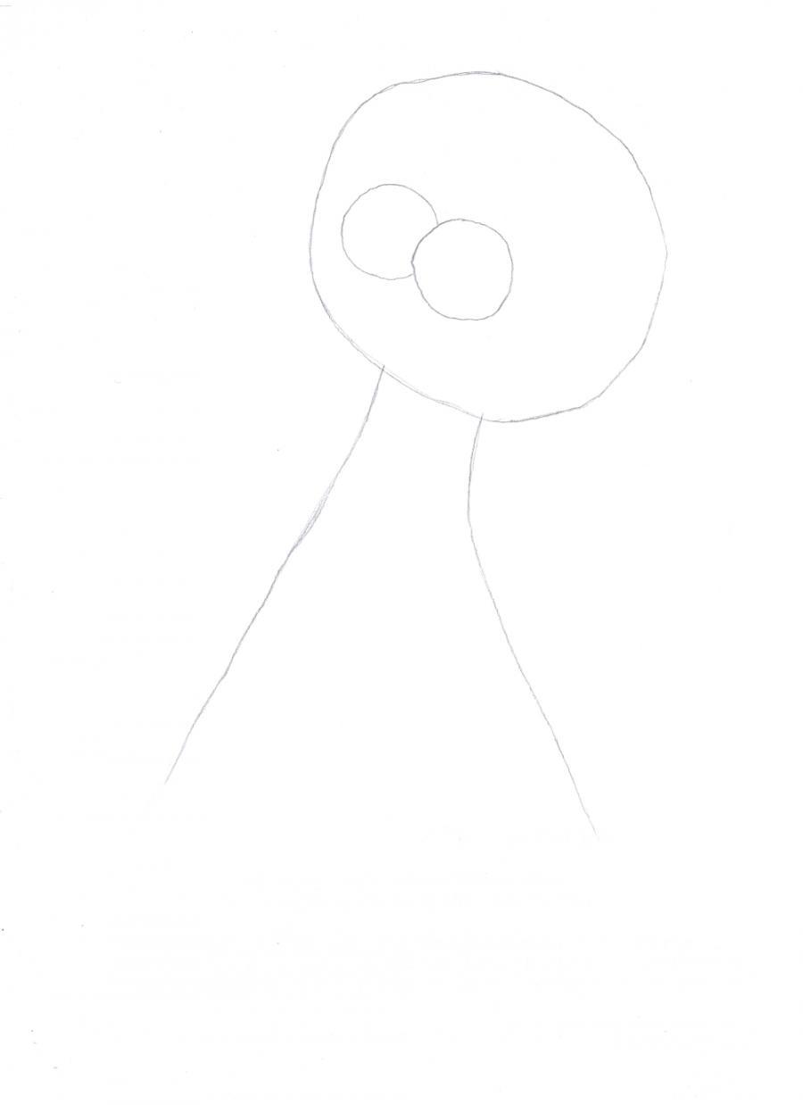 Рисуем Лизу Симпсон - шаг 1