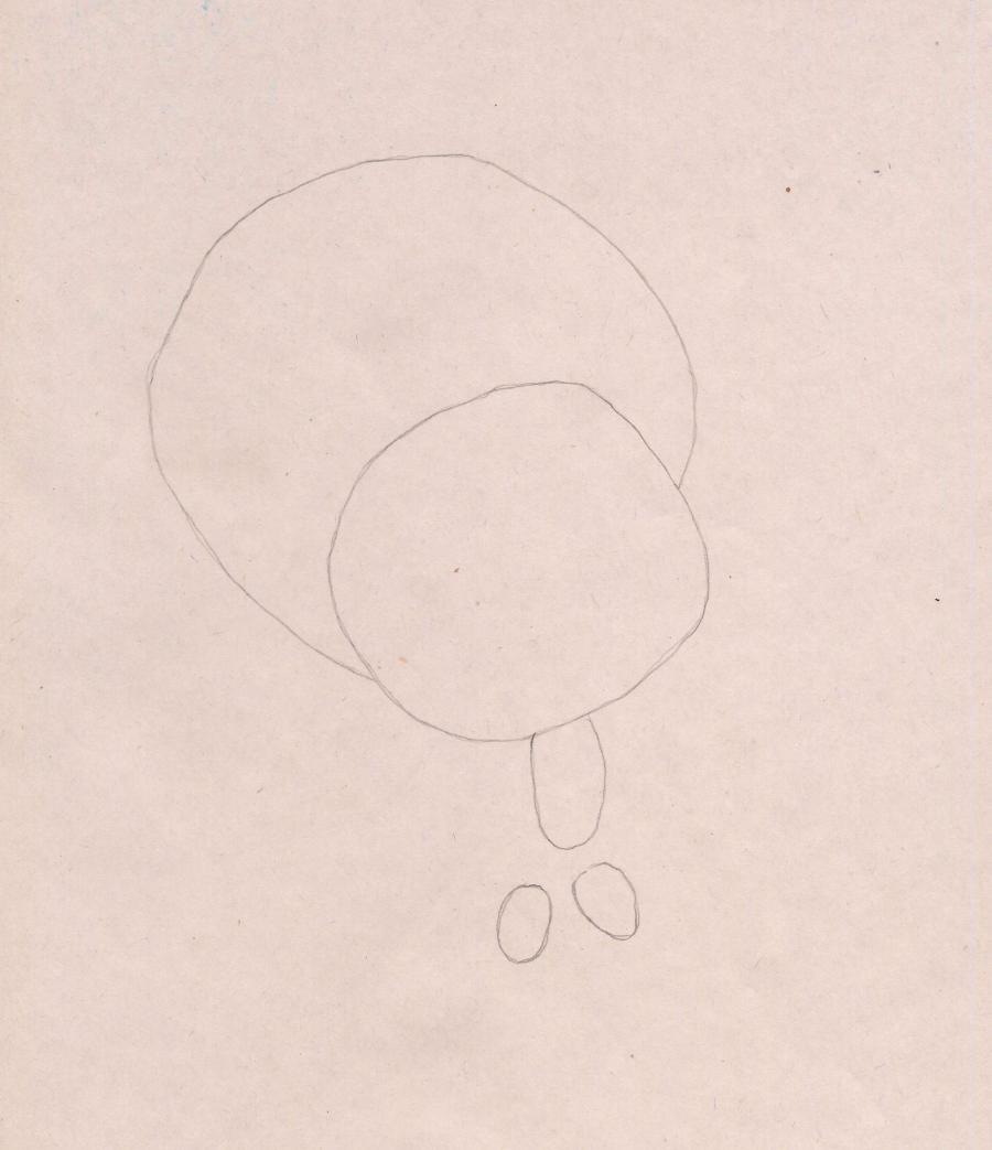 Рисуем Нолика из Фиксиков - шаг 1