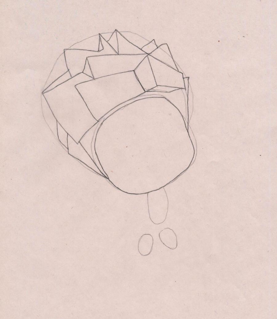 Рисуем Нолика из Фиксиков - шаг 2
