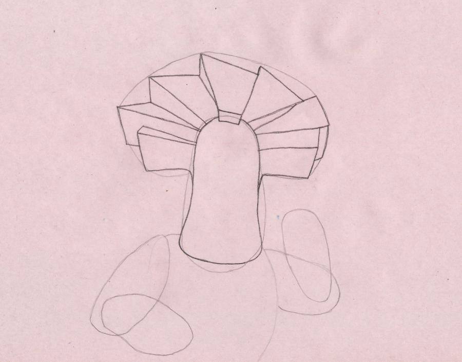 Рисуем Папуса из мультсериала Фиксики - шаг 2
