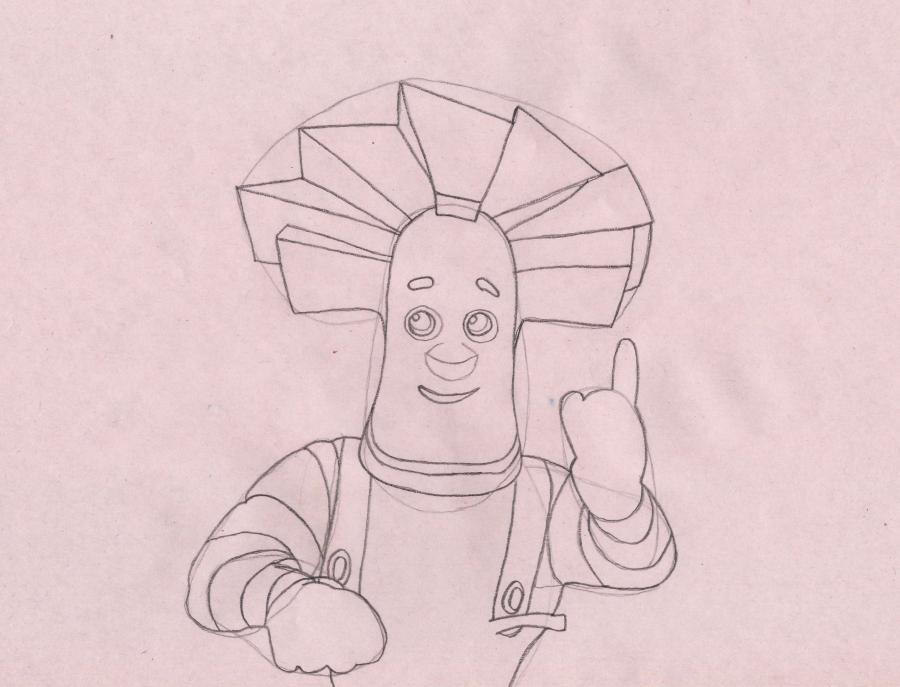 Рисуем Папуса из мультсериала Фиксики - шаг 4