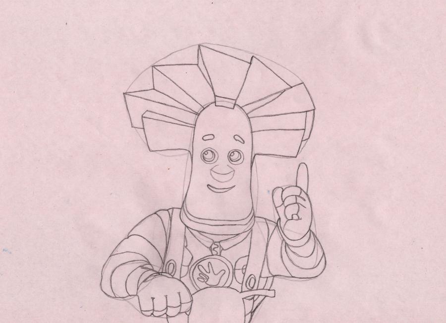 Рисуем Папуса из мультсериала Фиксики - шаг 5