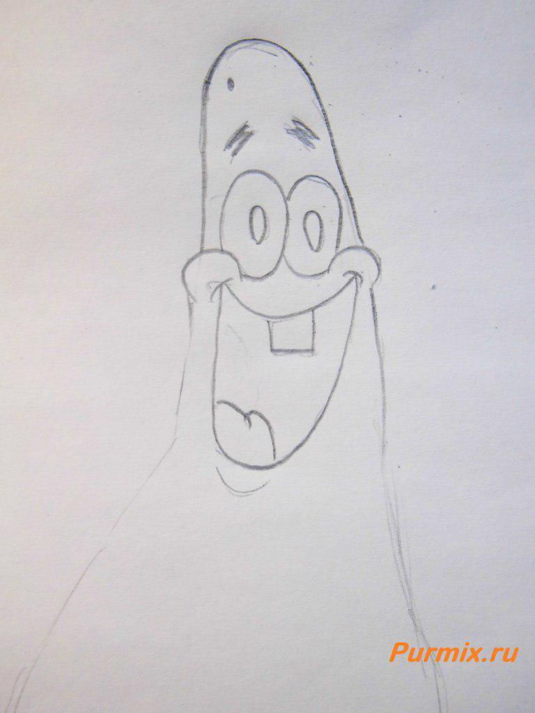 Рисуем бегущего Патрика - шаг 2