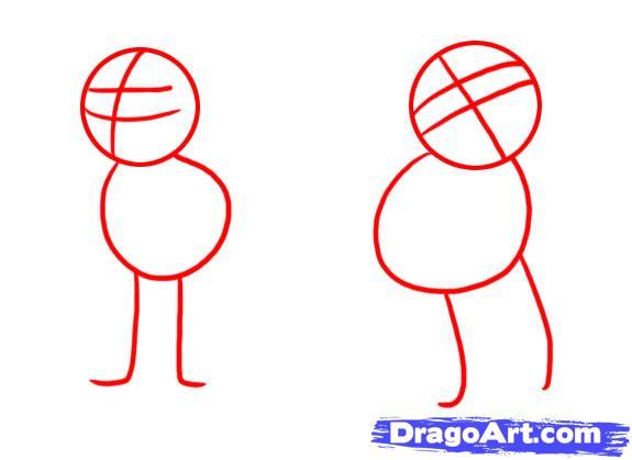 Рисуем Симбу и Налу из Король Лев - шаг 1