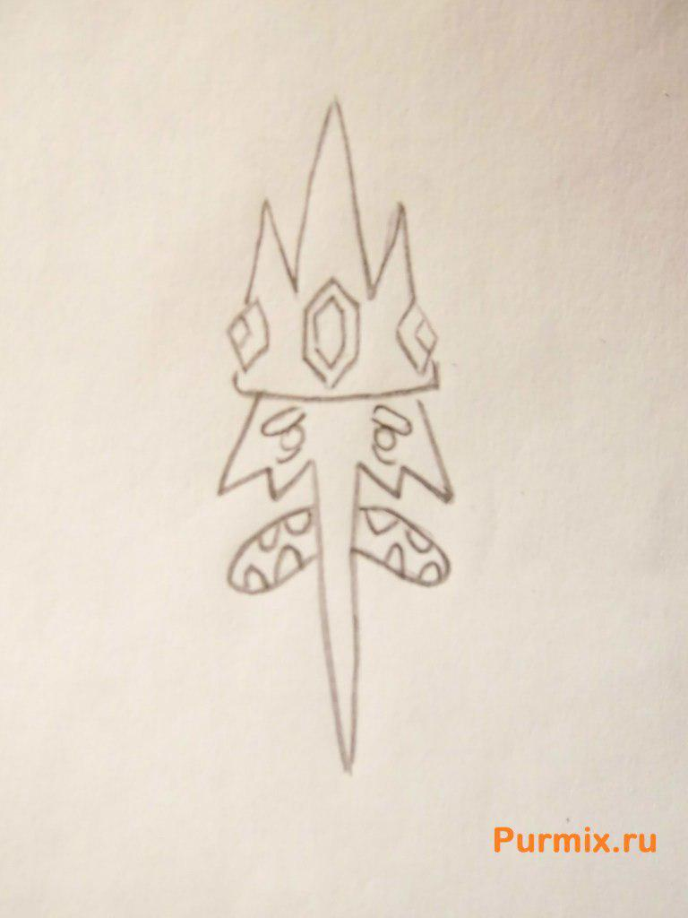 Рисуем Снежного Короля из Время приключений - шаг 3