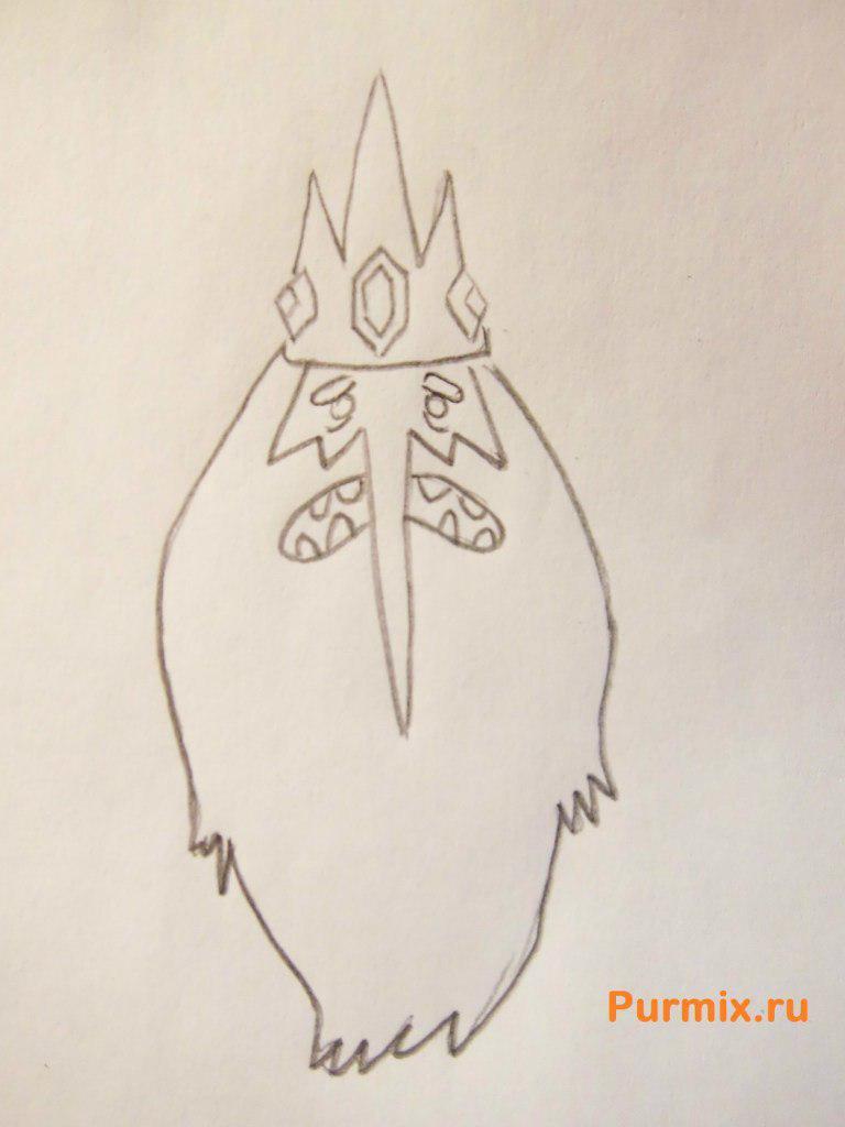 Рисуем Снежного Короля из Время приключений - шаг 4