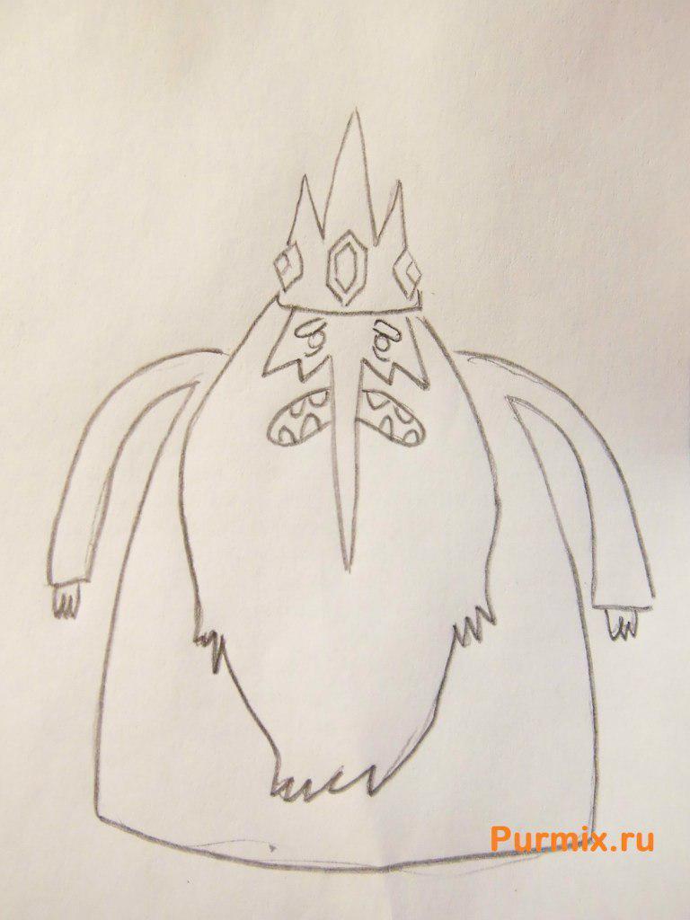 Рисуем Снежного Короля из Время приключений - шаг 5