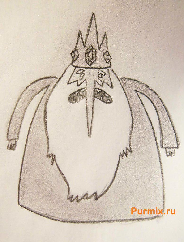 Рисуем Снежного Короля из Время приключений - шаг 7