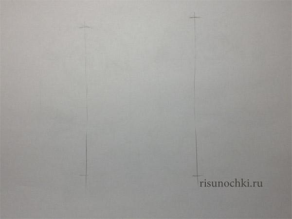 Рисуем веселеньких миньончиков Карал и Фила - шаг 1