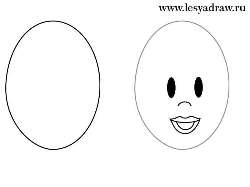 Рисуем Вилму из Флинтстоунов