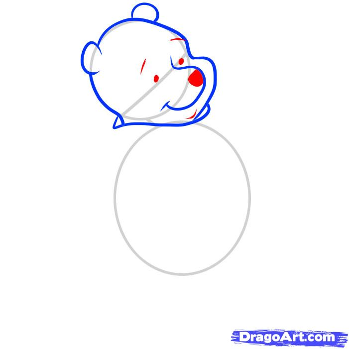 Рисуем Винни-Пуха - шаг 4