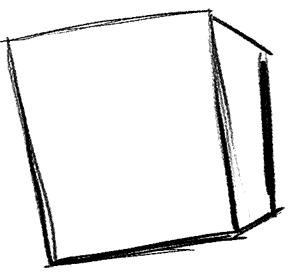 Рисуем влюбленного Губку Боба - шаг 1