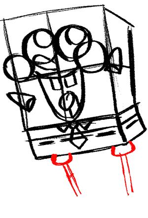 Рисуем влюбленного Губку Боба - шаг 10