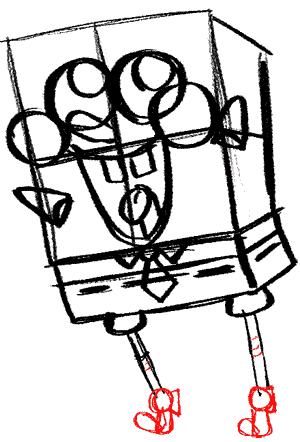 Рисуем влюбленного Губку Боба - шаг 11