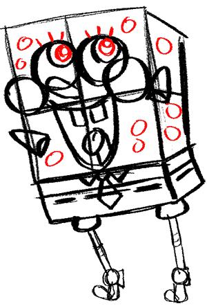 Рисуем влюбленного Губку Боба - шаг 12