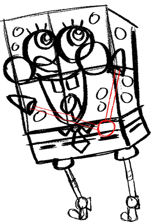 Рисуем влюбленного Губку Боба - шаг 13
