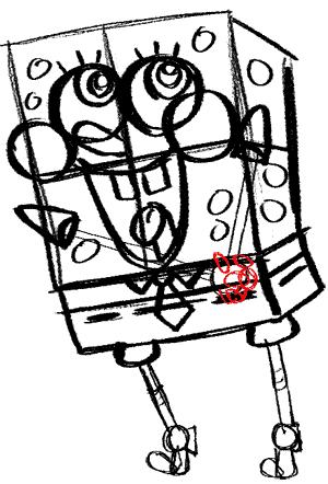 Рисуем влюбленного Губку Боба - шаг 14
