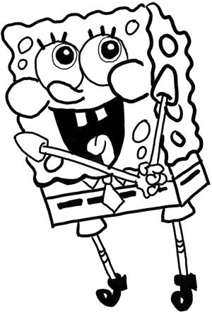 Рисуем влюбленного Губку Боба - шаг 15