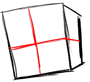 Рисуем влюбленного Губку Боба - шаг 2