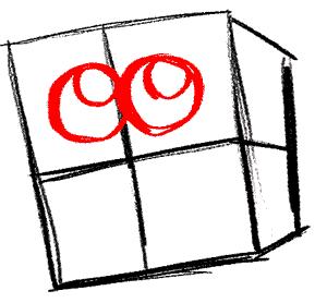 Рисуем влюбленного Губку Боба - шаг 3