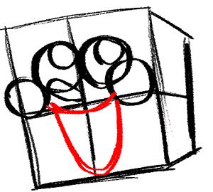 Рисуем влюбленного Губку Боба - шаг 5