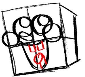 Рисуем влюбленного Губку Боба - шаг 6
