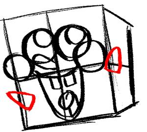 Рисуем влюбленного Губку Боба - шаг 7