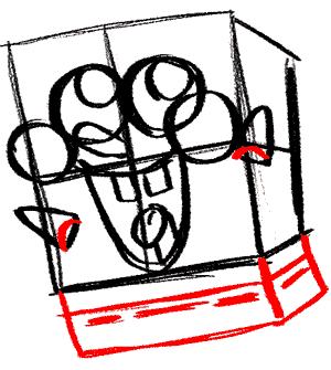 Рисуем влюбленного Губку Боба - шаг 8