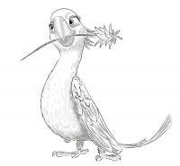 Жемчужинку из мультфильма Рио карандашом