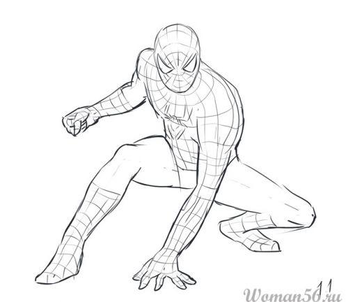 Рисуем Человека-Паука - шаг 11