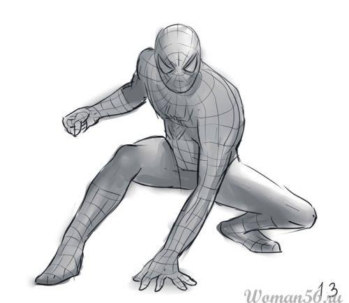Рисуем Человека-Паука - шаг 13