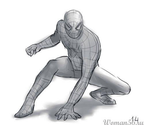 Рисуем Человека-Паука - шаг 14