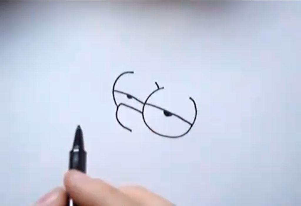Рисуем голову Барта Симпсона - шаг 2