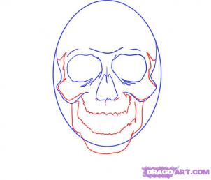 Как рисовать черепа карандашами - шаг 4
