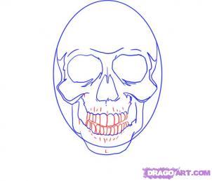 Как рисовать черепа карандашами - шаг 5