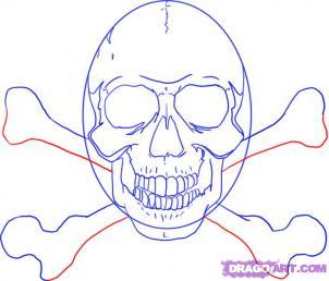Как рисовать черепа карандашами - шаг 7