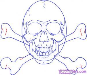Как рисовать черепа карандашами - шаг 8