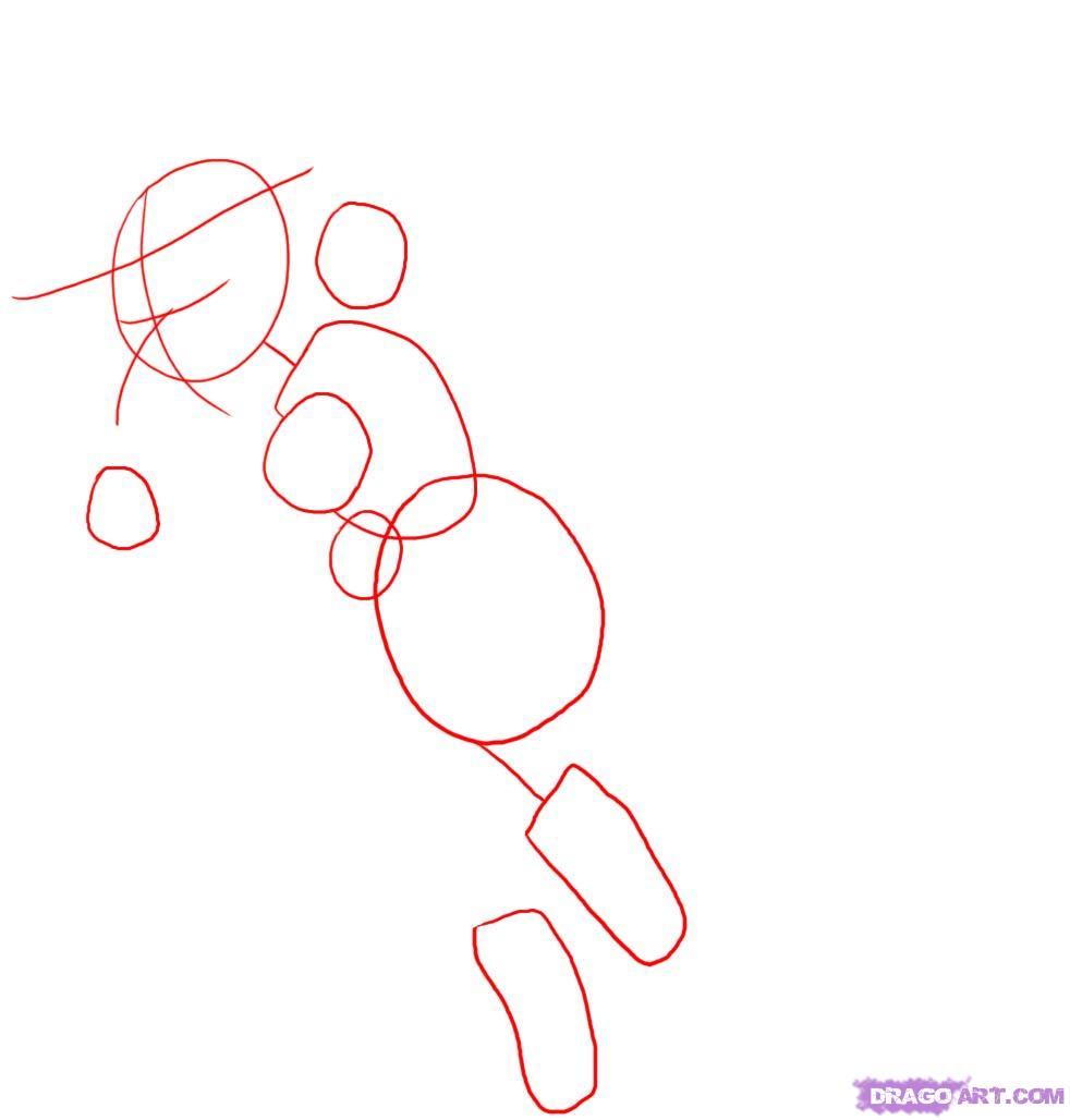 Рисуем ведьму на метле - шаг 1