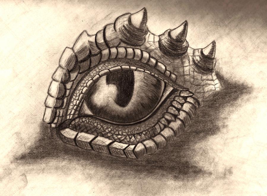 Рисунки глаза дракона - шаг 4
